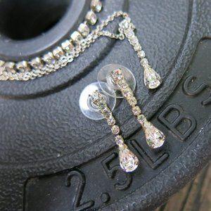 Vintage Diamond Rhinestone Silver full SET